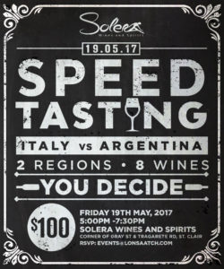 Speed Tasting Demo Event