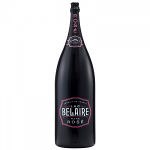 A bottle of Luc Belaire Rare Rose Nebuchadnezzar