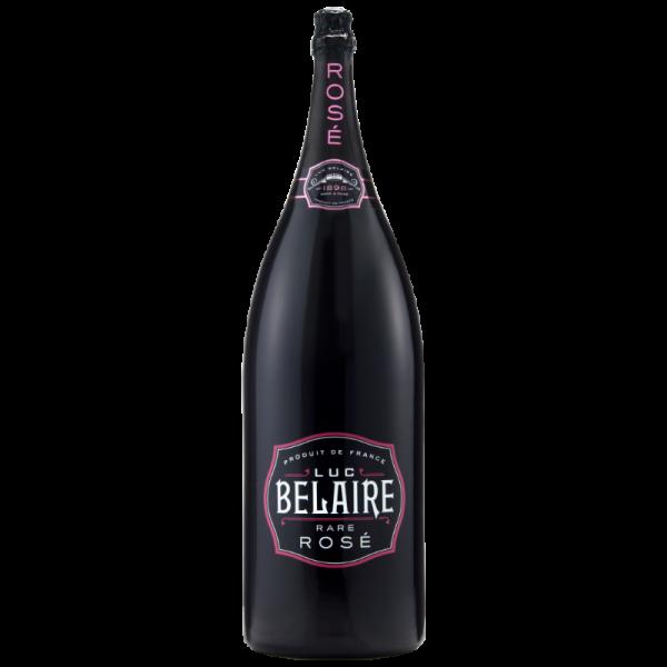 A bottle of Luc Belaire Rare Rose Nebuchadnezzar