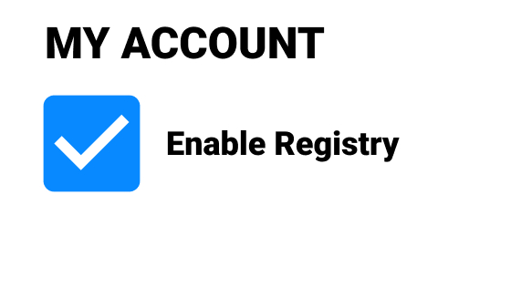 Enable the registry
